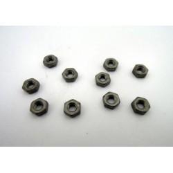 Hex nut M2.5 Black (10 pcs)