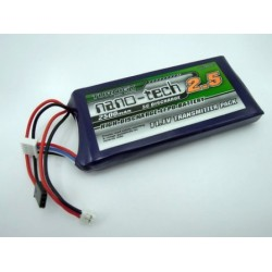 Turnigy LiPo Battery 11.1 V/ 2500 mA/ 5-10C Flat