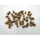 Wooden Block Triple 7 mm (50 pcs)