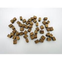 Wooden Block Triple 7 mm (50 pcs)
