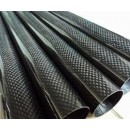 Carbon Fibre Round Tube D10 x d8 x 1000 mm roll-wrapped