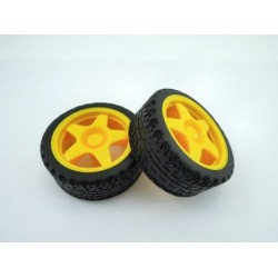 Wheels for Geared Motor RC130 (2 pcs)