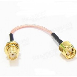90mm Low Loss Antenna Extension Cord Wire Fixed Base SMA RP-SMA