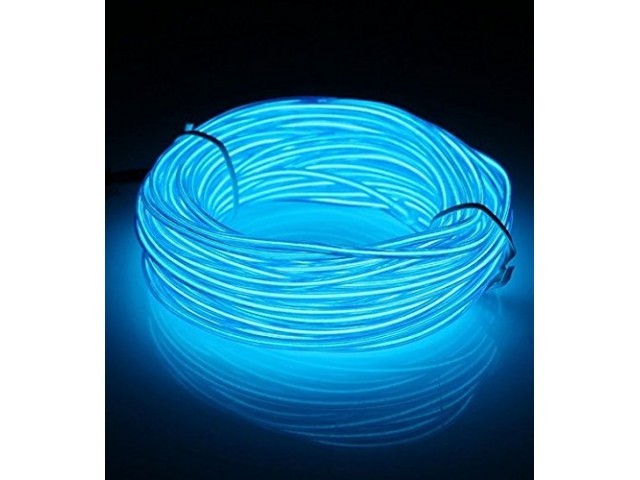 10M EL Led Flexible Soft Tube Wire Neon Glow Car Rope Strip Light ...