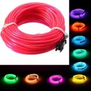 5M EL Led Flexible Soft Tube Wire Neon Glow Car Rope Strip Light Xmas Decor DC 12V