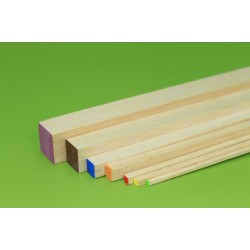 Balsa rectangular strip 3 x 3 x 1000 mm (1 pcs)