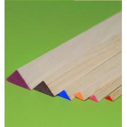 Balsa triangular strip 10 x 10 x 1000 mm (1 pcs)