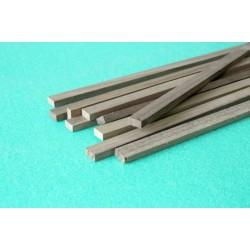 Walnut rectangular strip 4 x 4 x 1000 mm