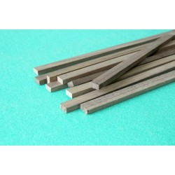 Walnut rectangular strip 5 x 5 x 1000 mm