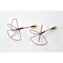 Set antene cloverleaf 2.4 GHz with conector SMA