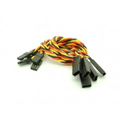 20cm JR 22AWG Twisted Extension Lead M to F 5pcs