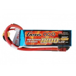 GENS ACE LiPo Battery 11.1 V/ 1800 mA/ 45C
