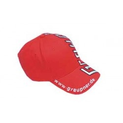 Red GRAUPNER peaked cap