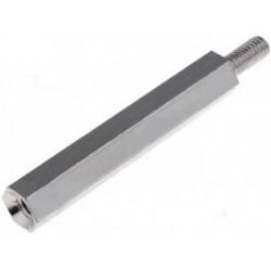 Stand Off Metal Brass Nickel Thread M3/ 30 mm (10 pcs)