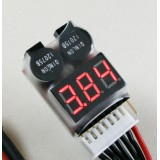 1-8S LiPo Battery Voltage Tester/ Buzzer Alarm