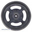 Plastic Black wheel D67 x 7.7 mm Futaba servo hub