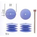 Flexible silicon discs fine polishing (10 pcs)