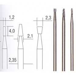 Tungsten-Vanadium carbide millers (3 pcs different shapes)