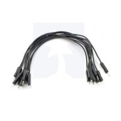 Jumper Wire 15 cm Male-Male Black (10 pcs)