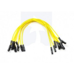 Jumper Wire 15 cm Female-Female Yellow (10 pcs)