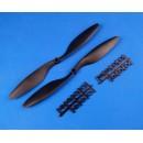 Propellers 10 x 4.5 (L + R) Black