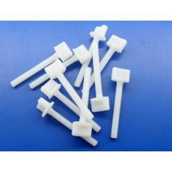 Hand Driven Plastic Screws 1/4 inch x 50 mm (10 pcs)