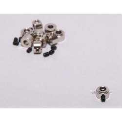 D4.1 mm brass collets with pin screw (10 pcs)