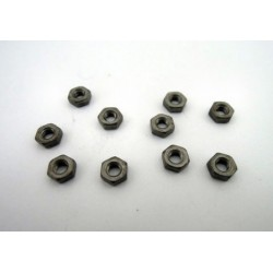 Hex nut M3 Black (10 pcs)