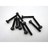 Hex socket black screw M2.5 x 16 mm (10 pcs)