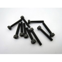 Hex socket black screw M2.5 x 16 mm (10 pcs)