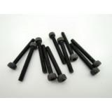 Hex socket black screw M2.5 x 20 mm (10 pcs)