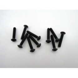 Hex socket black screw M3 x 16 mm (10 pcs)
