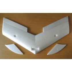 EPP 920 mm Model Flying Wing with milled holes