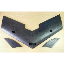 EPP 920 mm Model Flying Wing with milled holes Black