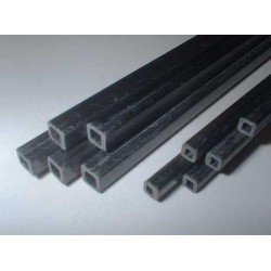 Carbon Fiber Rectangular Tube 10 x 10 x 1000 mm
