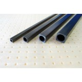 Carbon fiber square (round inner) tube 6 x 6 x d4 x 1000 mm