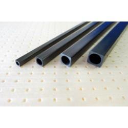 Carbon fiber square (round inner) tube 8 x 8 x d6.5 x 1000 mm