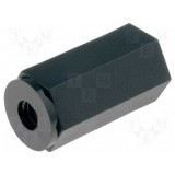 Screwed spacing bushing hexagonal M4 (10 pcs)