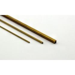 Brass Square Tube 3 x 3 x 0.3 mm