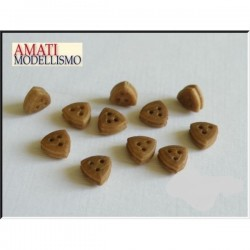 Dead Eye triangular wood 5 mm (20 pcs)