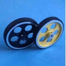 Rubber-band Aluminum Hub Wheel D95 x 14 mm (1pcs)