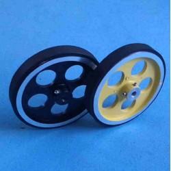 Rubber-band Aluminum Hub Wheel D95 x 14 mm (1pcs)