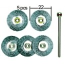 Steel Wire Wheel Brushes D22 mm (5 pcs)