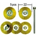 Brass Wire Wheel Brushes D22 mm (5 pcs)