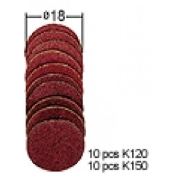 Sanding Discs Assorted D18 mm (20 pcs)