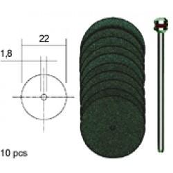 Corundum Cutting Discs D22 mm with Shaft (10 pcs)